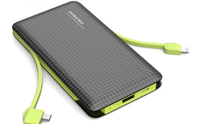 PINENG PN-956 10000mAh 3 Connectors with 2 Built-in Cable Li-Polymer Powerbank